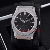 Wholesale Transparent Watch Leather Red - Hot Luxury watch AAA Quality 42MM Classic Mens DW Watches Automatic Watches Transparent Rose gold silver Case Leather band