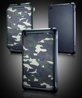 Wholesale Military Tough Case Cover - Mini4 Army Military Camo Camouflage Armor Tough Shockproof Hybrid Hard PC Soft TPU Case Cover for iPad Mini 1 2 3 4 with Retail Package