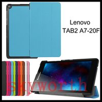 Wholesale Tablet Stand Folder - For Lenovo Tab 3 8 Plus 7 Essential 710F 730M A10-30 A10-70 A8-50 A7-20 Yoga 3 Folio Flip 3 Folder leather case Stand