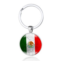 Wholesale Keychain World Cup Souvenirs - World Cup Football Keychain Flag Logo Soccer Club Fans Keyring Country Key Chains Souvenir Pendant Accessories Gift