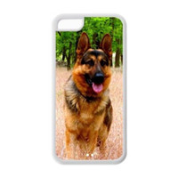 Wholesale Diy Iphone 4s Casing - Cute Pet Doggy German Shepherd Dog Diy High Quality Protective Durable Back Case Cover Shel For iPhone 4 4s 5c 5 5S 6 6s Plus