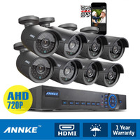 Wholesale Used Cctv Dvr System - ANNKE 8CH HDMI DVR 720P HD Video Night Vision IR CUT Security indoor and outdoor cctv 8 Cameras System Kits Use wireless android