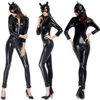 Wholesale Motorcycle Cat - dongguan_wholesale New Hot Halloween Costumes Sexy Cat Girl Motorcycle Cosplay Clothing Game Uniform Nightclub Party Clothes