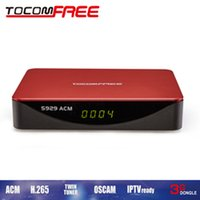 Wholesale Iks Free America - Hot selling tocomfree s929acm with twin tuner iks free and support newcam cccam powervu for South America