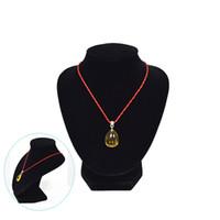 buste de collier de velours achat en gros de-En gros Promotion Bijoux Collier Présentoirs Buste Torse Noir Velours Taille moyenne