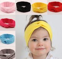 bebek bezi saç bantları toptan satış-Sıcak Bebek Hairband Avrupa Bebekler Saç Bandı 2015 Moda Bebek Kız Sevimli Çapraz Elastik Kumaş Hairbands Çocuk Aksesuarları I4257