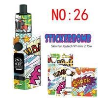Wholesale Evic Wraps - Stickerbomb Skin for Joyetech EVIC VT MINI 2 Sticker VTC V2 Mod Sticker Vape Box Wrap Skin Vaporizer Mod Sticker Beautiful label stickers