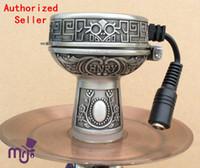 Wholesale Heater Electrical - 1 pc HADY Small Size Tin Electrical Hookah Shisha Bowl head E-charcoal bowl smokepan; hose charcoal holder ceramic bowl heater