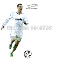 autocollants muraux ronaldo achat en gros de-Grand C Ronaldo Football Sport Autocollant Mural Football Wall Decal pour Art Kid Boy Chambre Décoration murale Poster Wallpaper