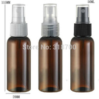 Wholesale Plastic Fragrance Spray Bottles Wholesale - Free shipping - 50 lot 50ml Amber PET Perfume Bottle, 50cc Mist Spray Bottle, 50ml Fragrance Perfume Bottle