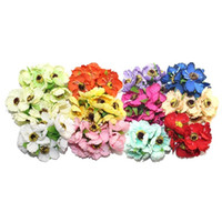 All'ingrosso-alta qualità 4 centimetri testa multicolore artificiale camelia fiore Bouquet Scrapbooking decorazione di nozze Bouquet da sposa (72pcs / lot)