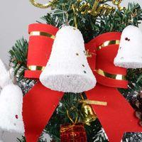 Wholesale Snowball Christmas Tree Ornaments - Christmas Tree Pendant 5CM 5.5CM 7CM Foam Snowball with Sequins Christmas Decoration Bells 6PCS Set