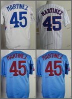 Wholesale Baseball Montreal - montreal #45 pedro martinez 2015 Baseball Jersey Cheap Rugby Jerseys Authentic Stitched Free Shipping Size 48-56
