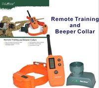 Static & Vibration sport dog remote trainer - M Pet Trainer Remote Training Electronic Beeper Bark Collar Safely for Dog DHL