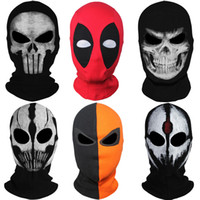 Wholesale x men adult costumes - Wholesale-9Style New Skull Ghost X-men Deadpool Punisher Deathstroke Masks Grim Reaper Balaclava Tactical Halloween Costume Full Face Mask
