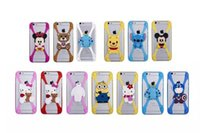 Wholesale Doll Silicone Case - 6S Note5 S6 Edge+ Universal Silicone Bumper Frame Cartoon Case Sulley Bear Stitch Monster Doll for iPhone 6 Plus Samsung HTC LG Sony Nokia