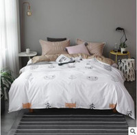 Wholesale Geometric Pattern Sheets - Geometric Pattern Bedding Sets Full Queen Size 4pcs Duvet Cover Sheet Pillow Cover Set Cotton Fashion Bed Linen Christmas Gifts
