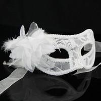 Wholesale Sexy Ladies Christmas Cloth - Cloth yarn Lily flower Dance party mask women lady Sexy Eye Mask Hallowmas Venetian mask Superwomen masquerade masks