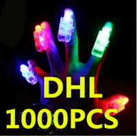 1000pcs Livraison gratuite DHL Led Lights !! Feux à doigts au laser LED Finger Light Beams Ring Party Christmas Gifts Free By DHL
