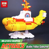 Wholesale Beatles Plastic - LOLTOY Lepin 21012 The Beatles Yellow Submarine Set Building Blocks Bricks Toys