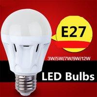 Wholesale 5w Globe Bulb Led Chip - LED Globe Bulb E27 LED Bulbs 3w 5w 7w 9w 12w Led Bulb Light 2835SMD LED Chips 85-265V LED Light Indoor Pendent Light Bulb Ceiling Lamp Bulb