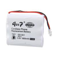 Wholesale Cordless Phone Rechargeable Battery - Factory Sale 4PCS 3.6v 1800mAh Cordless Phone Replacement Batteries Rechargeable Battery AAx3 NiMH Bateria Cell Good Power