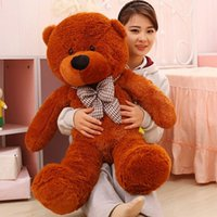 Wholesale Christmas Bear Cheap - 100CM Giant Teddy Bear Plush Toys Stuffed Ted Cheap Pirce Gifts for Kids Girlfriends Christmas P0209E