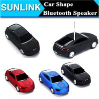 Wholesale Super Model Phone - A8 Super Cool Mini Car Model Bluetoot Speaker Portable Wireless LED Light Stereo Subwoofer MP3 Music Player Support FM TF Card For iPhone PC