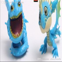 Wholesale Toothless Dragon Puppet Toy - Wholesale-Factory Sell 8pcs set How To Train Your Dragon Puppets Toothless Display Toy Night Fury Doll Hobbies Stuffed Birthday Gift TY063
