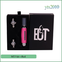 Wholesale Red Buttom - EVOD MT3 Atomizer Electronic Cigarette Fit for EVOD Battery EGo t Battery 2.4ML Replaceable Coil E cigarette Buttom Heated 10 colors