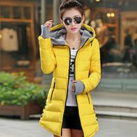 Wholesale Snow Korean Fashion - Snow wear wadded jacket female 2015 new women's winter coat jacket winter coat female Korean Slim women