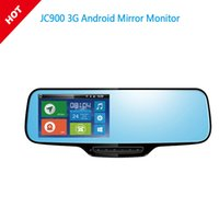 Wholesale Dvr Rear Camera - JC900 1080P 3G Android Mirror Dual Camera Strap Version with WCDMA Tri-Band for Worldwide Google Map & HD Rear camera Optional