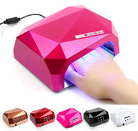 Wholesale Ccfl Led Gel Diamond - Fashion CCFL 36W LED Light Diamond Shaped Best Curing Nail Dryer Nail Art Lamp Care Machine for UV Gel Nail Polish