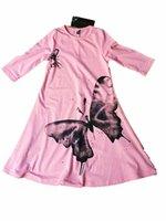 v kedi toptan satış-Sonbahar Yeni Rahat Bebek Kız Elbiseler Kelebek Baskı Bebek Elbise çiçek kız elbise Uzun Kollu Çocuklar Chilren Elbise Robe Bapteme Çocuklar Elbise
