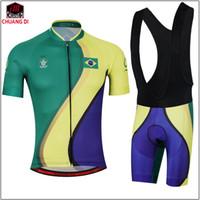frauen fahrradbekleidung großhandel-Longao Brasilien MännerWomens Radfahren Jersey Set Ropa De Camisa Ciclismo Kurzarm Bike Kleidung Sport Trikots Radfahren Set