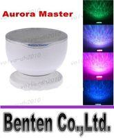 Wholesale Aurora Projector - llfa784 Mini Portable Romantic Aurora Master 7 Colorful LED Light Projectors Speakers Ocean Wave Rainbow Projector Speaker Lamp