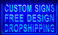 Wholesale LS001 design your own custom Light sign hang sign home decor shop sign home decor