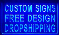iluminación de la decoración del hogar al por mayor-LS001 diseño de su propia aduana muestra de la luz decoración de la tienda decoración signo casero caída signo de la casa