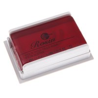 Wholesale Transparent Violin - Wholesale- High Quality All natural Bows Rosin Resin for Violin Viola Cello Strings Perfect Violin Parts and Accessories Transparent Red