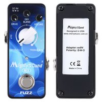 Wholesale Electric Guitars Effects - High Quality Mighty Sound M3 Mini Classic Buzz Fuzz Pedal Electric Guitar Effect Pedal True Bypas with LED indicator I1632