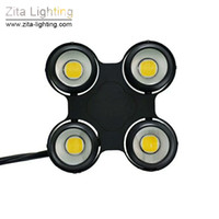 luces de escenario led arandelas de pared al por mayor-Zita Lighting LED Blinder Lights 4 EYE COB Audience LED Stage Par Lights Impermeable 2IN1 DMX512 Wall Washer DJ Disco Theater Party Effect