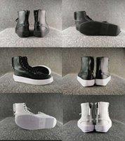 zapatos de suela gruesa blanca al por mayor-¡VENTA CALIENTE! The Weekend XO Parall hombres CASUAL zapatos altos zapatos de cremallera de la suela de moda superior gruesa zapatos al aire libre PUM * XO negro blanco 36-45 JSNH