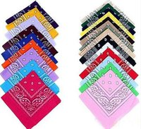 Wholesale Hot Head Scarf - 2015 New Hip-hop 100% Cotton Bandanas For Male Female Men Women Fashion Head Scarf Scarves Hot Sale Wholesale