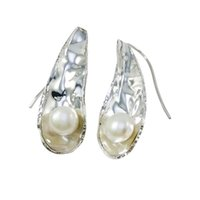 Wholesale Pearl Chandelier Lighting - 2015 best artificial jewelry earring freshwater pearl 925 silver light fresh pure handcrafted earring for E905