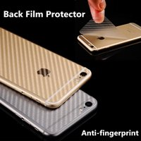 Para o iPhone X 8 Plus Anti-fingerprint 3D Clear Carbon Fiber Back Screen Protector Film Stickers para iphone 7 6s mais com pacote de varejo