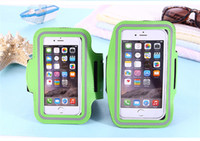 Wholesale Water Arm Bands - For Iphone X Sports Running Waterproof Armband Case Workout Armband Holder Pounch Cell Mobile Phone Arm Bag Band 11 colors