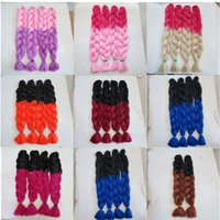 Wholesale 613 kanekalon braiding hair for sale - Kanekalon Jumbo Braid Hair Senegalese Twist inch grams Red Blonde Ombre two tone color xpression synthetic Braiding hair extension