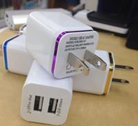 ac para tableta al por mayor-Enchufe USB de la pared del USB dual 2.1A Adaptador de la corriente ALTERNA Enchufe del cargador de la pared 2 puerto para la nota de la galaxia de Samsung LG tableta ipad JJD2129
