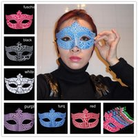 Wholesale Cracked Venetian Mask - Crack Halloween Mask Hip Hop Dance Mask Venetian Masquerade Party mask Carnival Mardi Gras Anonymous Mask Cosplay Halloween Decoration