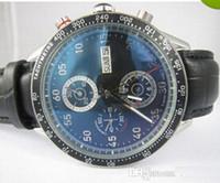 relógio homem calibre automático 16 venda por atacado-Novo Luxo Preto Dial Leather Watch Strap Mens Automático Mecânico Suíço Famosa Marca de Moda Calibre 16 Relógios Inoxidável Dos Homens Antigos Data